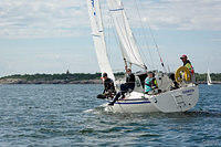 Light wind sailing - feels summer. LYS2 race at Hanko Regatta 2016.