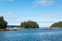 View from Secret Cove to Malaspina Strait.